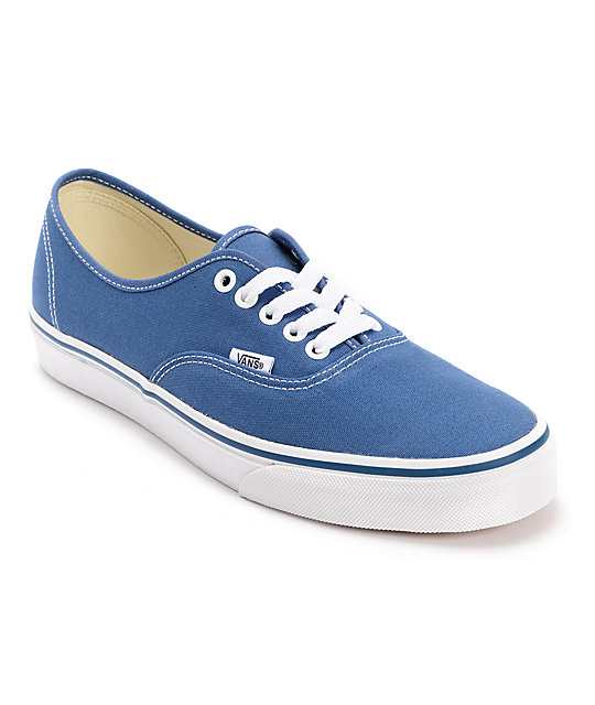 Vans Authentic Navy Canvas Skate Shoes ...