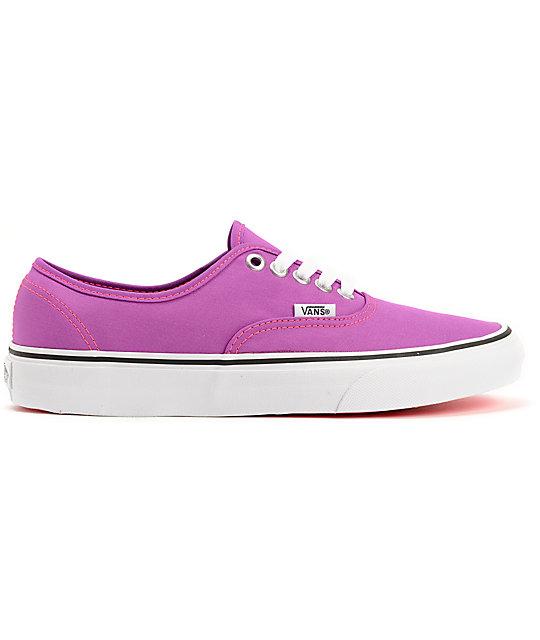 de011c7d2821 ... Vans Authentic Neon Purple   White Shoes