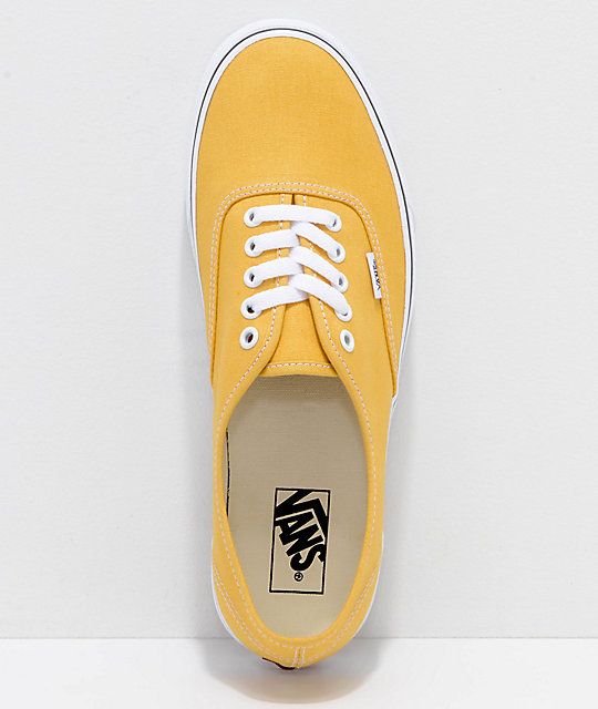 Vans Authentic Ochre & White Skate Shoes