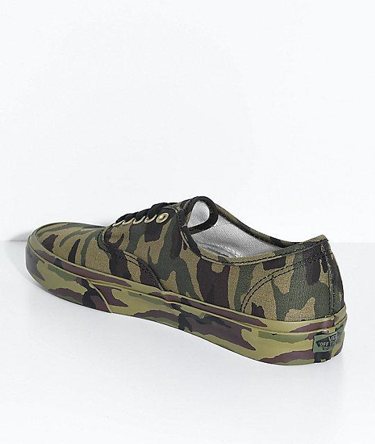 beb6856082c34c ... Vans Authentic Olive Camo Skate Shoes ...