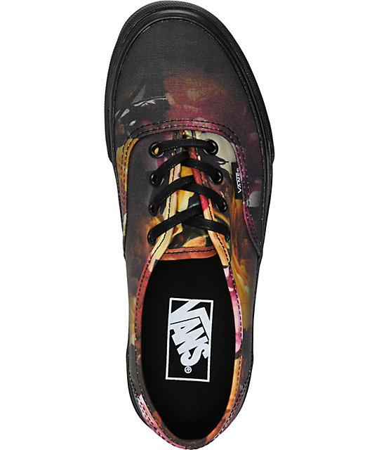23358c7c67f661 ... Vans Authentic Ombre Floral Shoes ...