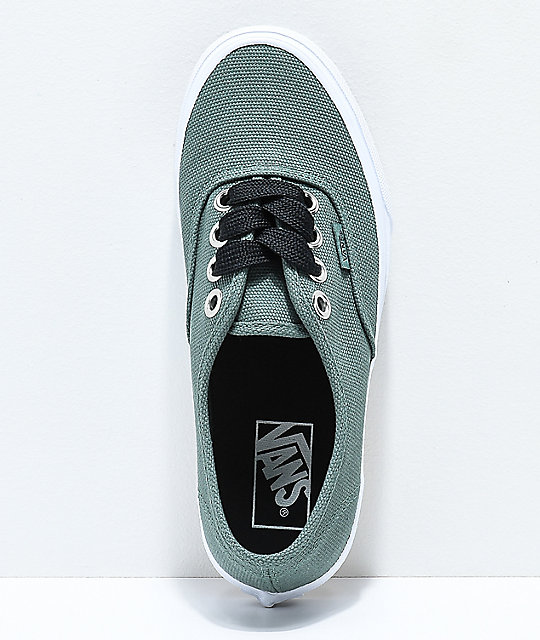 Vans Authentic Oversize Silver, Pine & White Skate Shoes