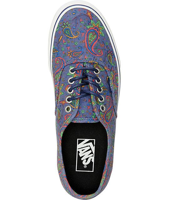 14df9ef191225a ... Vans Authentic Paisley Skate Shoes ...
