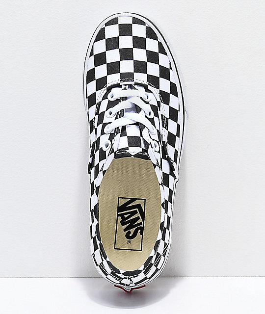 Vans Authentic Platform Checkerboard Skate Shoes
