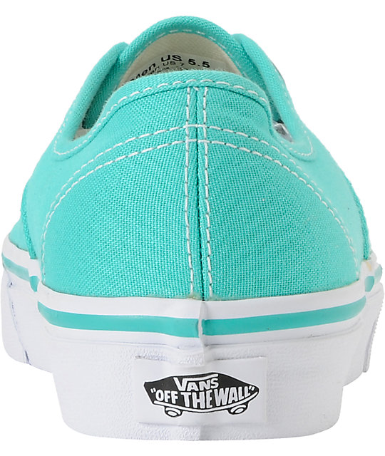 Vans Authentic Pool Green & White Shoes