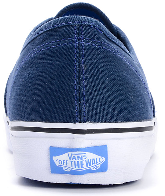 Vans Authentic Pop Lace Dress Blues Skate Shoes