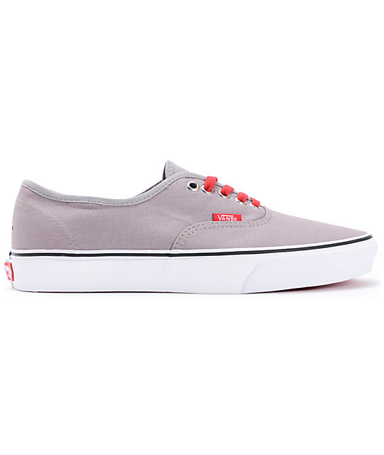 ... Vans Authentic Pop Lace Frost Grey Skate Shoes cabeb53121