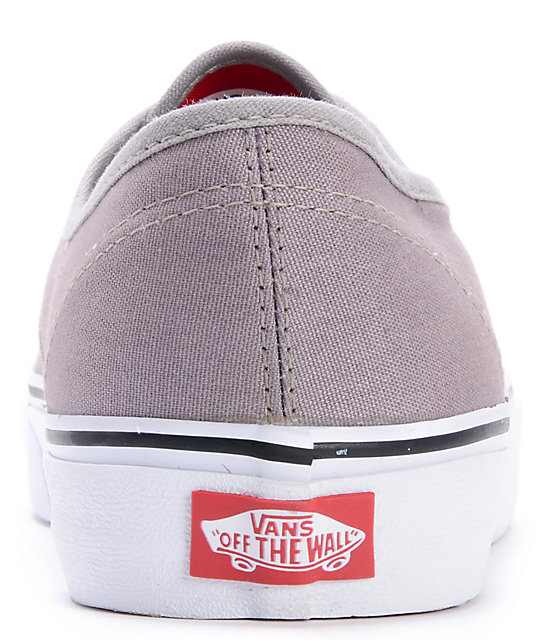 Vans Authentic Pop Lace Frost Grey Skate Shoes