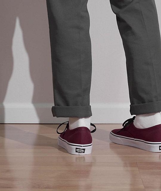 Vans Authentic Port Royale & Black Skate Shoes | Zumiez