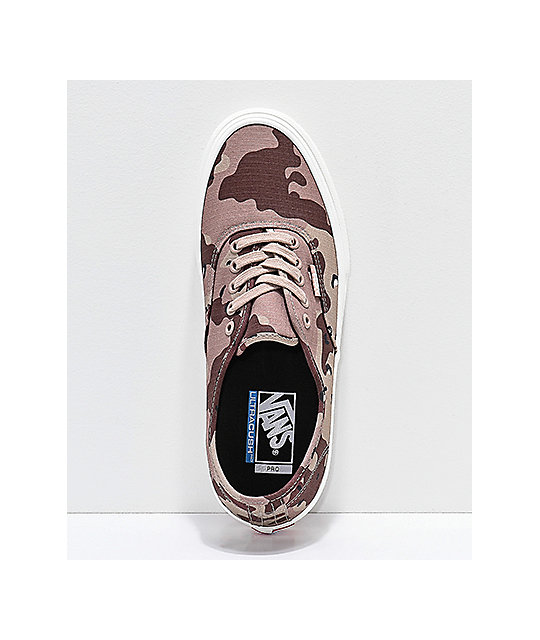 Vans Authentic Pro Desert Camo Skate Shoes