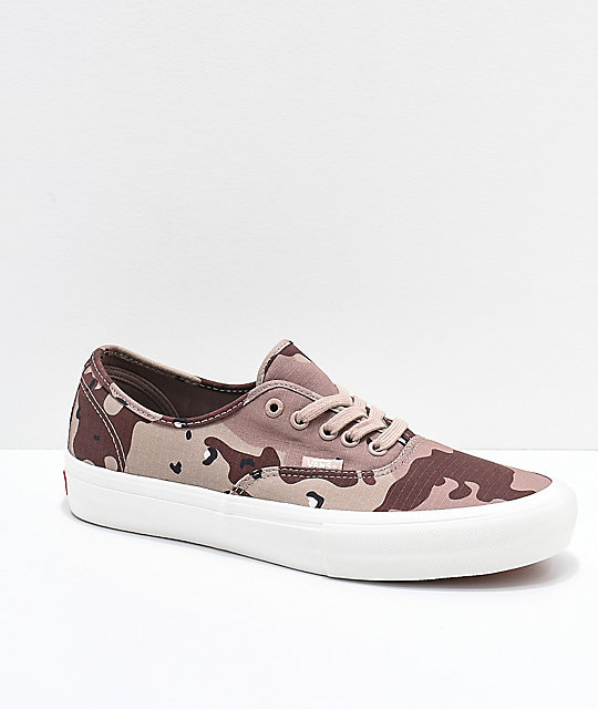 af7552babf4d3b Vans Authentic Pro Desert Camo Skate Shoes