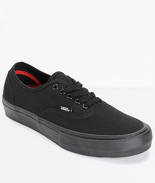 vans authentic pro zwart