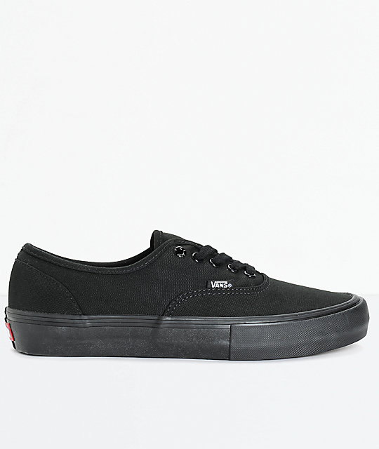 Vans Authentic Pro Mono zapatos de skate en negro