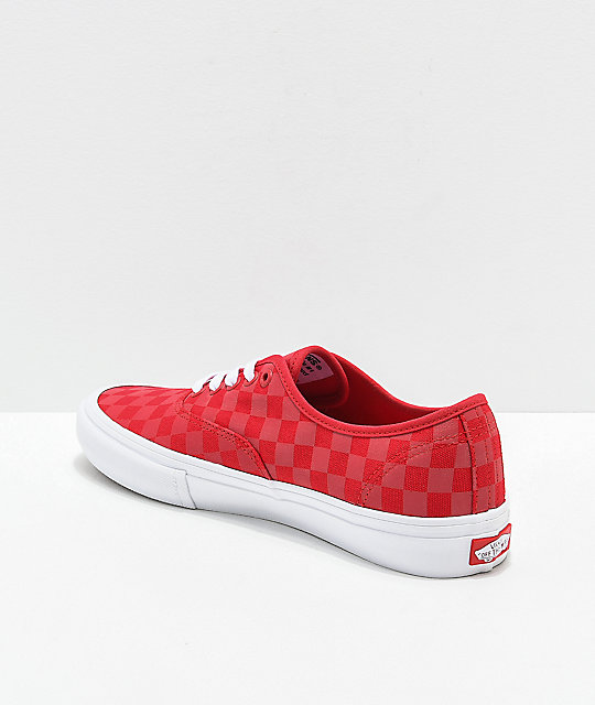 Vans Authentic Pro Reflect Red Skate Shoes