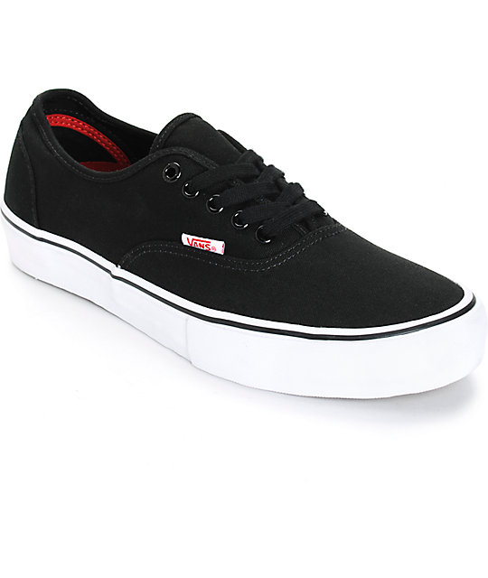 vans authentic lo pro negras