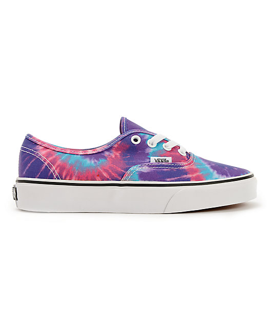 ... Vans Authentic Purple Tie Dye Shoes 92477e5e7d