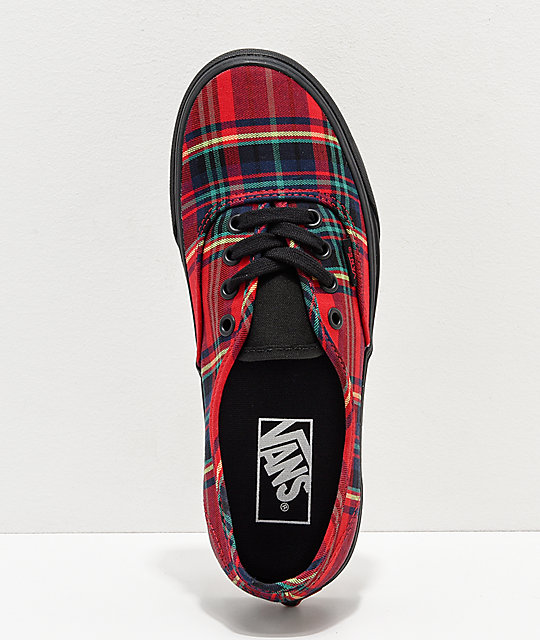 712e4191592f ... Vans Authentic Red Plaid Mix Skate Shoes ...