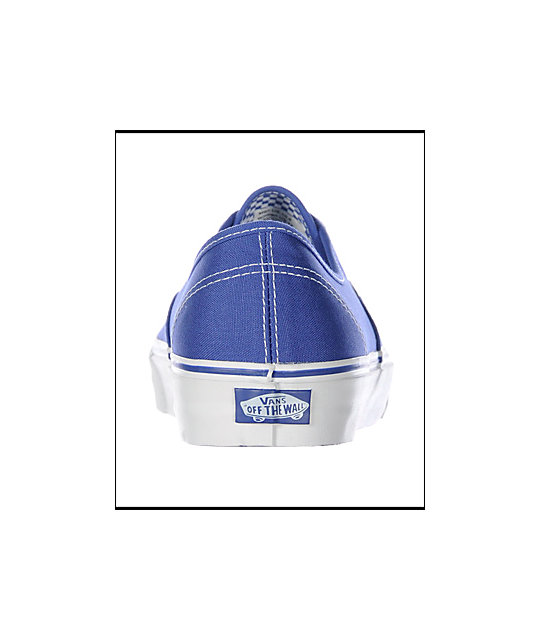 Vans Authentic Royal Blue Skate Shoes