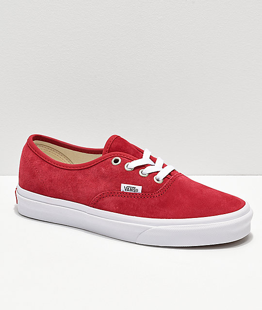 6bdaccf9b848 Vans Authentic Scooter Red Suede Skate Shoes