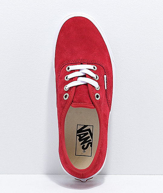 Vans Authentic Scooter zapatos de skate de ante rojo