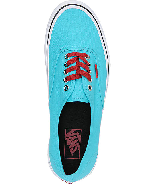 Vans Authentic Scuba Blue & Chili Pepper Red Skate Shoes