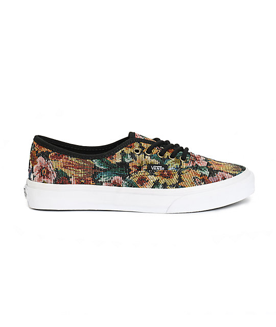 a3831f5e02956f ... Vans Authentic Slim Tapestry Floral Shoes