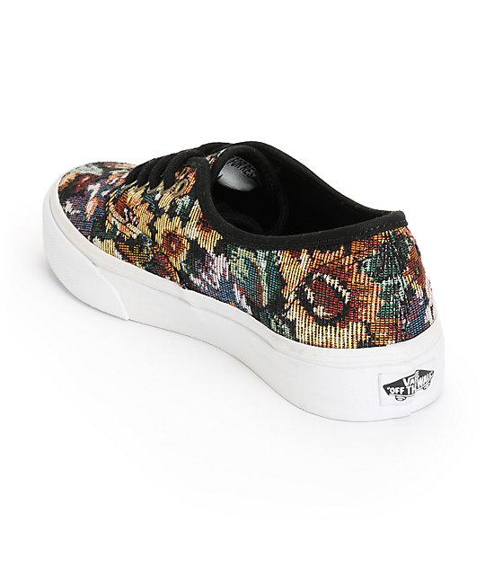 cc3d9d9bf6 ... Vans Authentic Slim Tapestry Floral Shoes ...