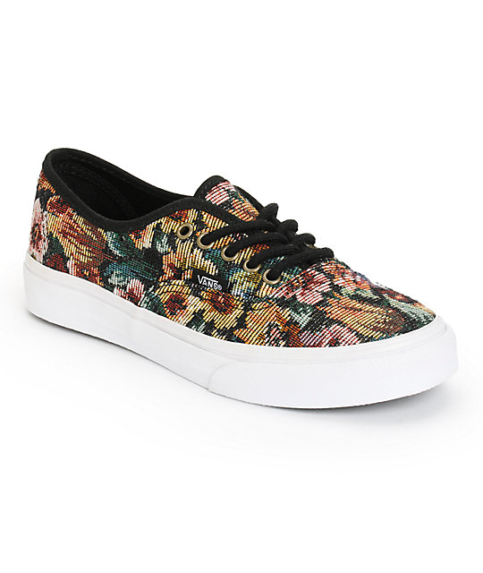 6ffcf42558 Vans Authentic Slim Tapestry Floral Shoes