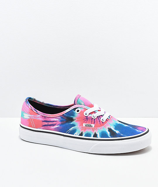 Vans Authentic Tie Dye Skate Shoes  d48530e28d