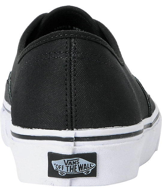 Vans Authentic Tough Poly Black Skate Shoes