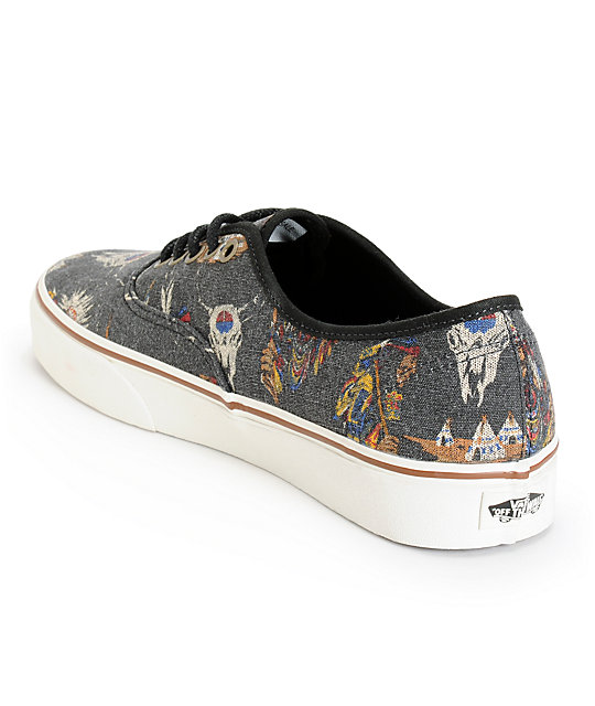 f2ec4a57e57145 ... Vans Authentic Tribal Leaders Skate Shoes ...