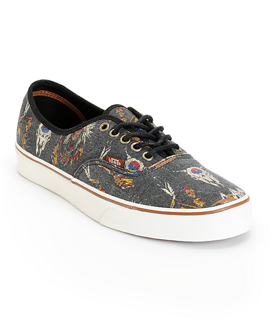 6a8b96a08705df Vans Authentic Tribal Leaders Skate Shoes