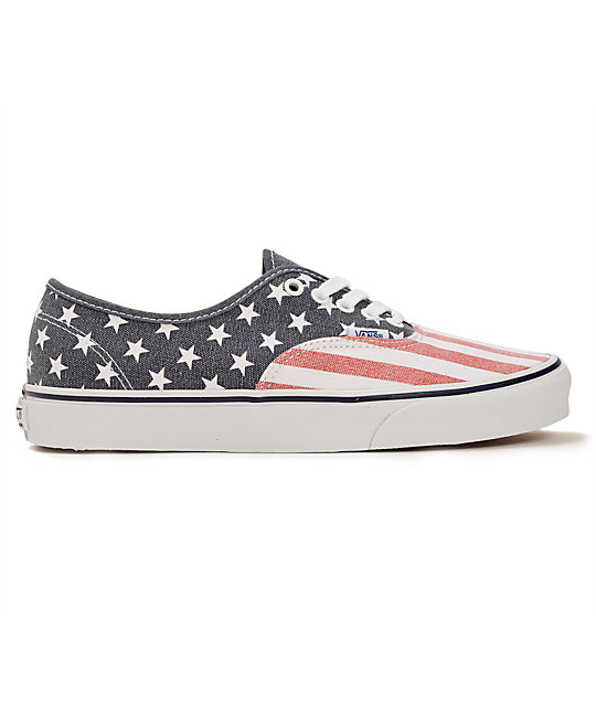 ... Vans Authentic Van Doren Stars   Stripes Skate Shoes 53739f7fa