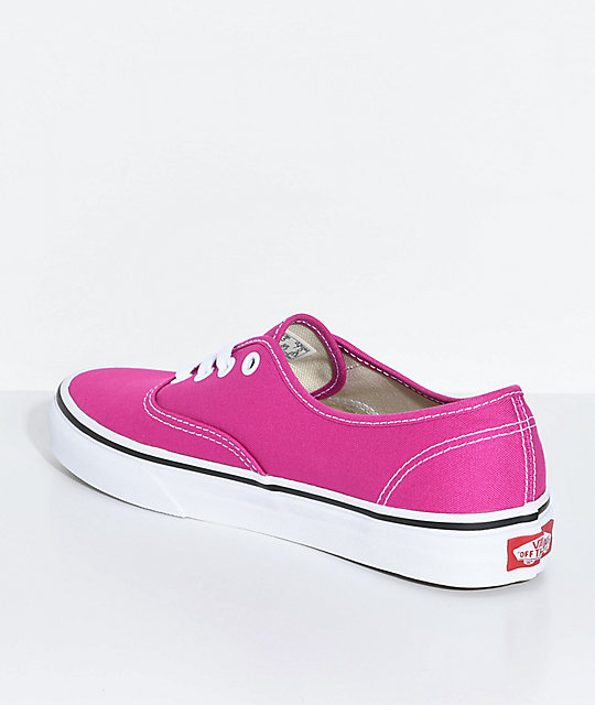 Vans Authentic Very Berry & True White Skate Shoes