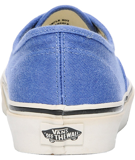 Vans Authentic Washed Navy Skate Shoes