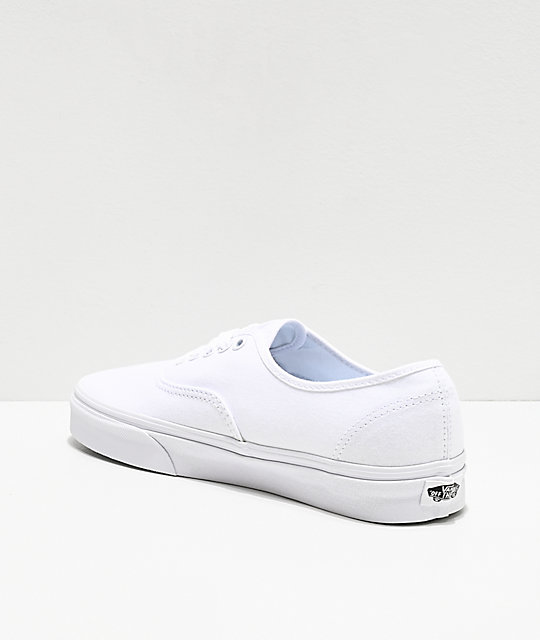 ... Vans Authentic White Canvas Skate Shoes ... 34b90f41e