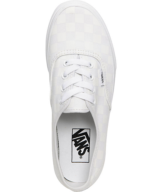 Vans Authentic White Chex Shoes