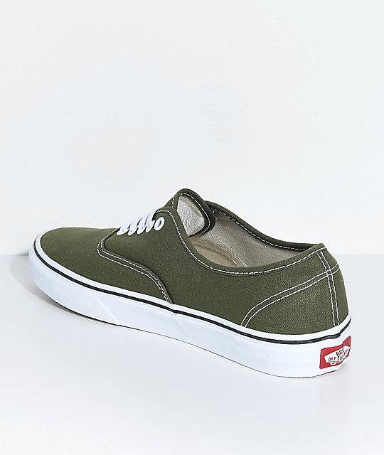 8e1336bc2a7f9f ... Vans Authentic Winter Moss   True White Skate Shoes ...