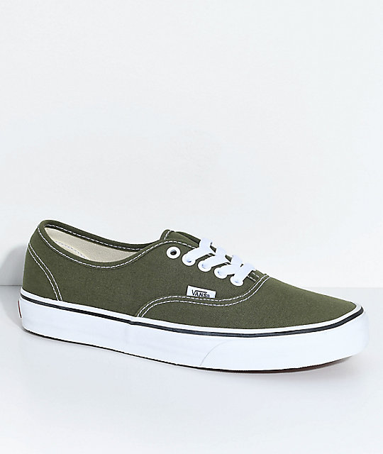 so cheap official site outlet boutique Vans Authentic Winter Moss & True White Skate Shoes | Zumiez.ca