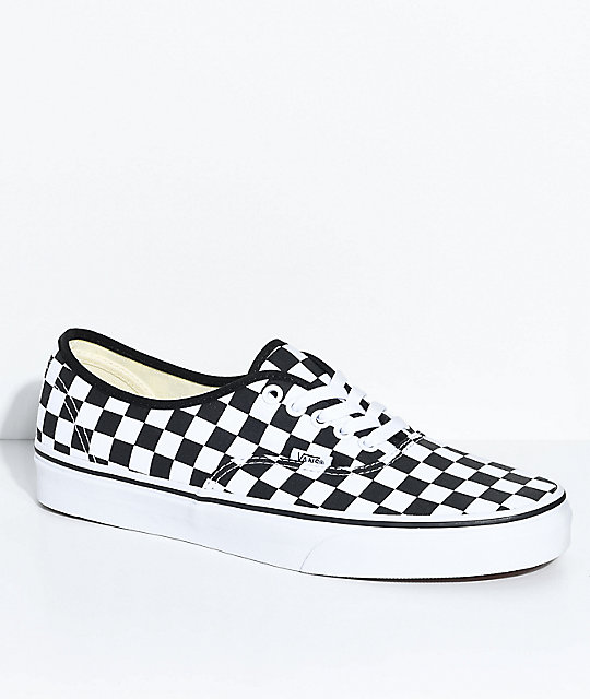 Vans Authentic zapatos de skate a cuadros en negro y blanco