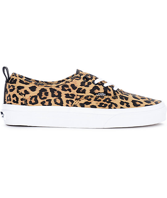 Vans Authentic zapatos de skate en blanco y patrón leopardo