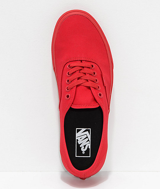Vans Authentic zapatos de skate en rojo y negro