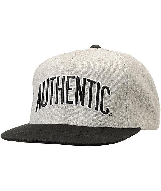Vans Authenticity Heather Grey   Black Starter Snapback Hat  7048a080e10