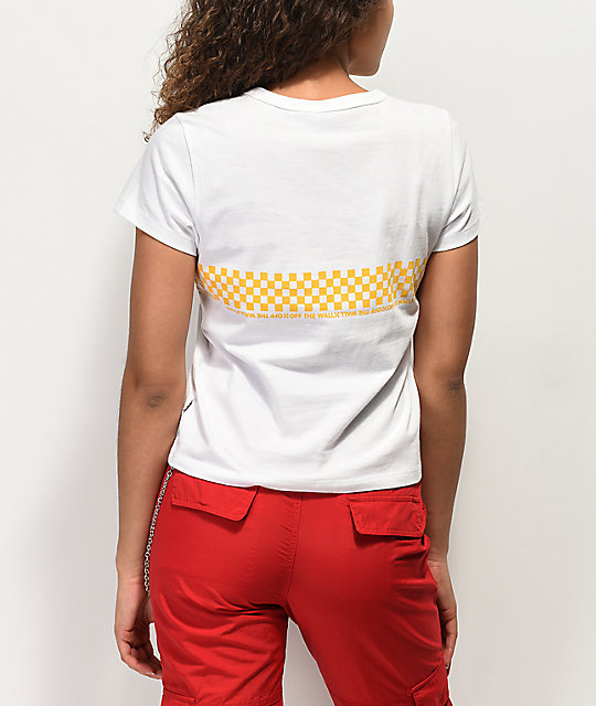 Vans Baby Checkerboard Yellow & White T-Shirt