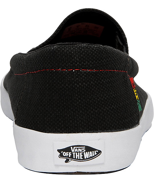 Vans Bali Black & Rasta Skate Shoes