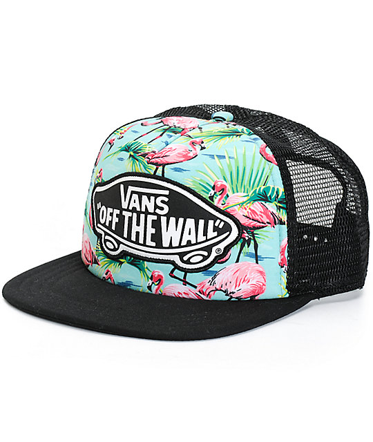 Vans Beach Girl Flamingo Trucker Hat  f7eabf441