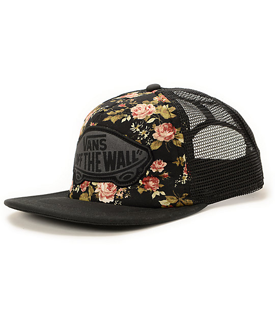 b71c49cadc9 Vans Beach Girl Floral Trucker Hat