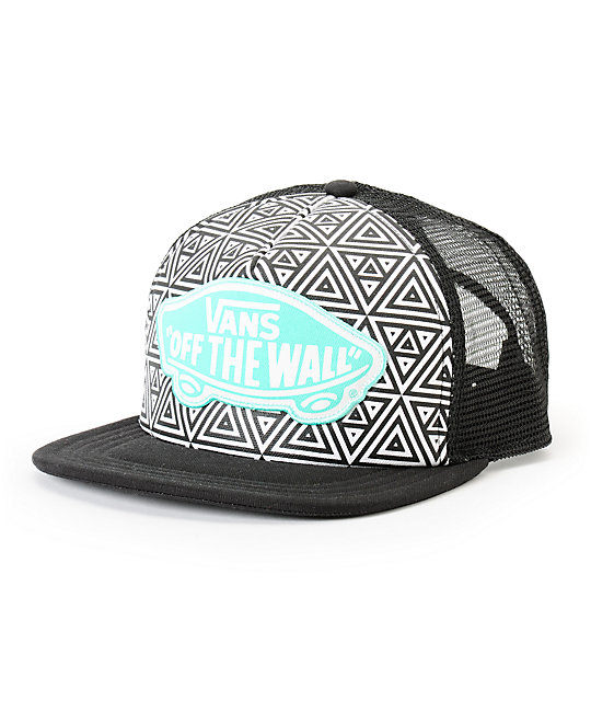 Vans Beach Girl Geo Print Trucker Hat