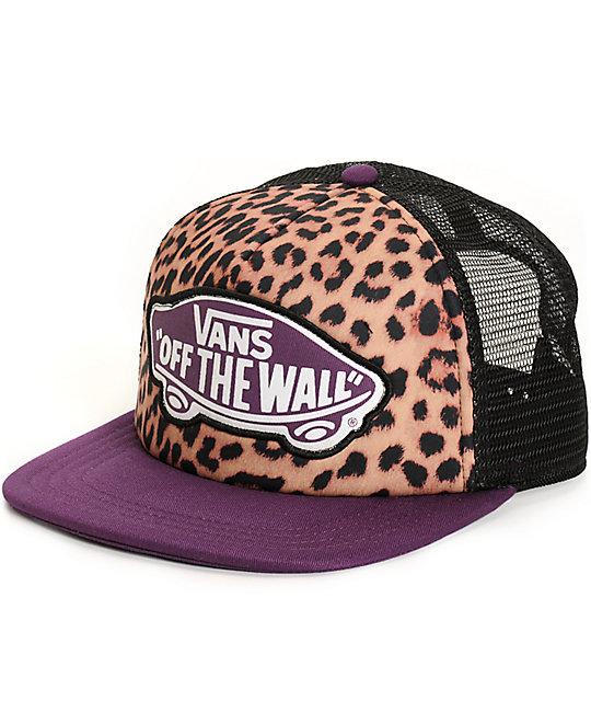 bb204deaa31 Vans Beach Girl Leopard Trucker Hat