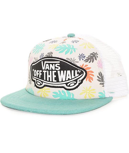 f8e0d3beded Vans Beach Girl Multi   White Trucker Hat